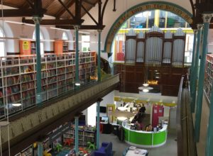 Inside shot of Bargoed library Wales 2