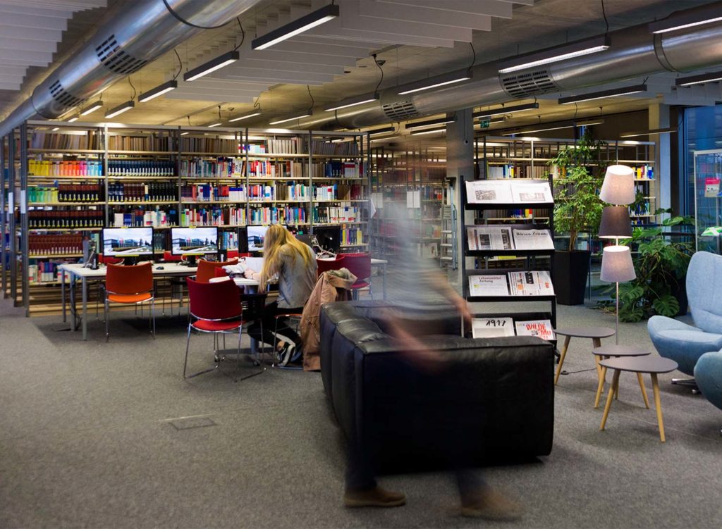 Interior of Mainz University library