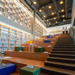Staired seating area in Busan library