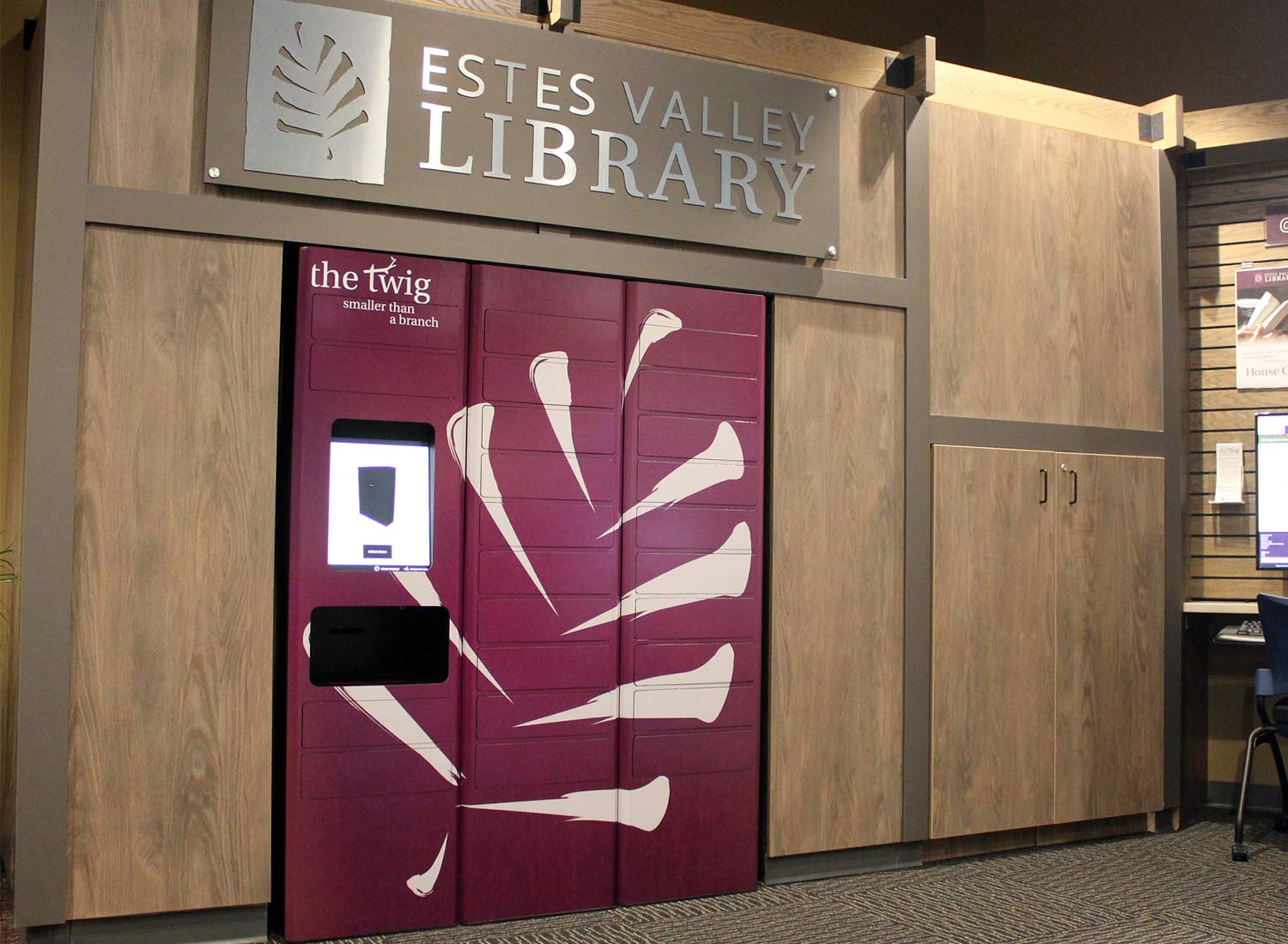 The twig remotelocker at Estes Park Library
