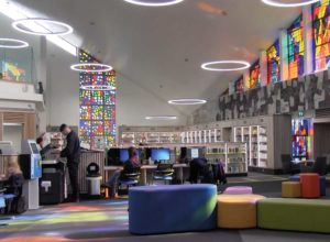 athy library interior with busy patrons - cloudLibrary app release updates